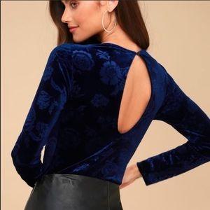 Blue Velvet Bodysuit
